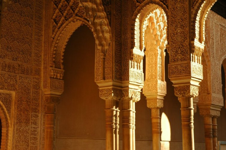 Pillars in the Court of Lions, Alhambra, Granada, Spain (2011)